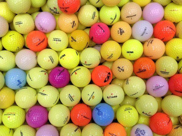 Golf žogice barvne mix