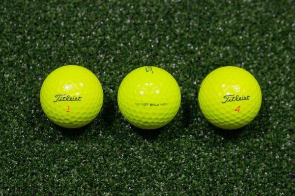 Golf žogice Titleist MIX yellow